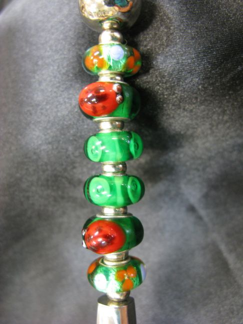 Coffee Scoop - Ladybugs,  Green, Red