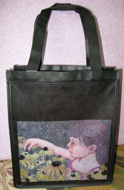 Eco-Grocery Tote Bag - Buzzing With Bees