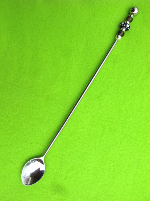 Ice Tea Spoon - Purple with White Dots