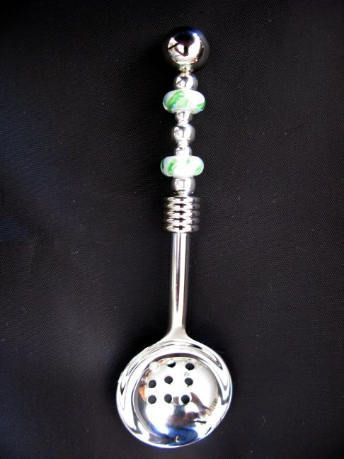 Slotted Spoon - White, Green, Blue