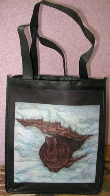 Eco-Grocery Tote Bag - Rabbit - Early Morning Winter Light