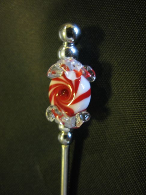 BE Spoon - Red-White Wrapped Peppermint Candy